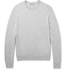 Burberry Elbow-Patch Cashmere and Cotton-Blend Sweater