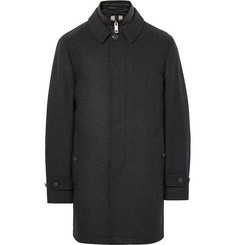 Burberry Wool and Cashmere-Blend Coat with Detachable Shell Gilet