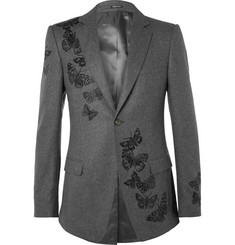 Alexander McQueen Embroidered Wool Blazer