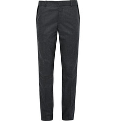 Alexander McQueen Slim-Fit Velvet-Trimmed Virgin Wool-Felt Trousers