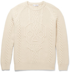 Alexander McQueen Cable-Knit Wool and Cashmere-Blend Sweater