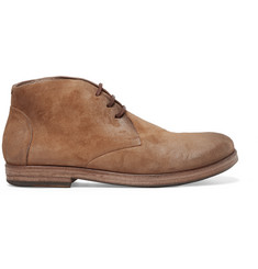 Marsell Washed-Suede Boots