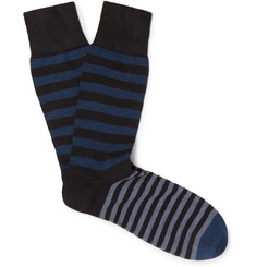 Kingsman - + Corgi Striped Cotton-Blend Socks