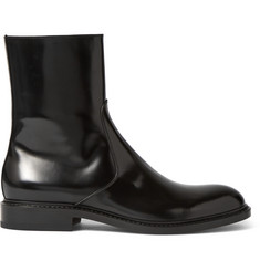 Jil Sander Antick Polished-Leather Boots