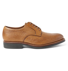 Grenson Liam Pebble-Grain Leather Derby Shoes