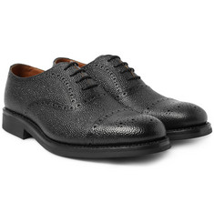 Grenson - Matthew Pebble-Grain Leather Oxford Brogues