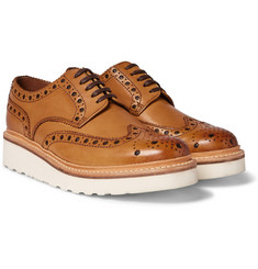 Grenson - Archie Wedge-Sole Leather Brogues