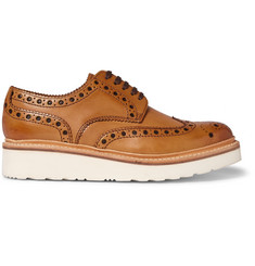 Grenson Archie Wedge-Sole Leather Brogues