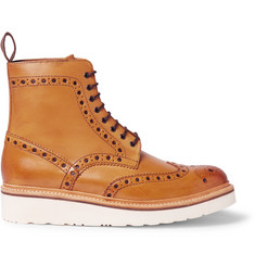 Grenson Fred Leather Brogue Boots