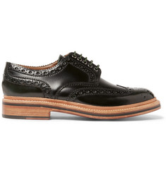 Grenson Archie Triple-Welted Polished-Leather Wingtip Brogues
