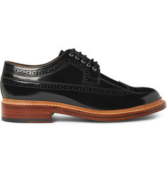 Grenson Sid Polished-Leather Wingtip Brogues