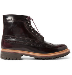 Grenson Sebastian Polished-Leather Brogue Boots