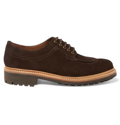 Grenson Percy Split-Toe Suede Derby Shoes