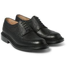 Grenson - Sid Triple-Welt Grained-Leather Brogues