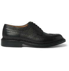 Grenson Sid Triple-Welt Grained-Leather Brogues