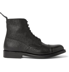 Grenson Pebble-Grain Leather Boots
