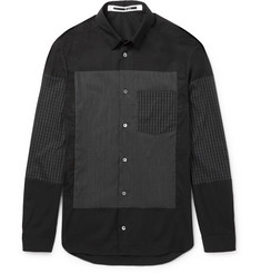 McQ Alexander McQueen Slim-Fit Check-Panelled Cotton-Blend Shirt