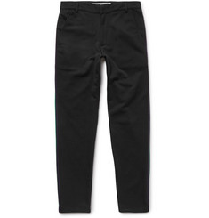 McQ Alexander McQueen Slim-Fit Tapered Striped Cotton-Blend Trousers