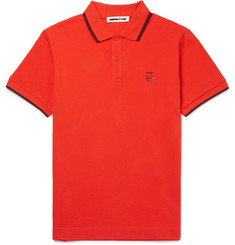 McQ Alexander McQueen - Slim-Fit Contrast-Tipped Cotton-Piqué Polo Shirt
