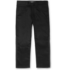 Junya Watanabe Cropped Panelled Wool and Denim Jeans