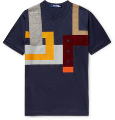 Junya Watanabe Slim-Fit Patchwork Cotton-Jersey T-Shirt