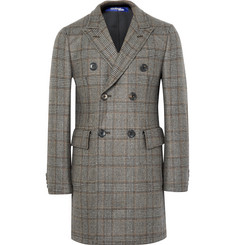 Junya Watanabe - Slim-Fit Double-Breasted Prince of Wales Checked Wool Coat