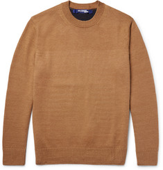 Junya Watanabe Two-Tone Cashmere and Linen-Blend Sweater