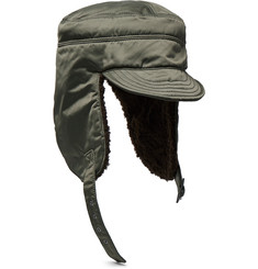Junya Watanabe Fleece-Lined Satin Trapper Hat