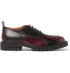 Dries Van Noten Kiltie-Detailed Leather Brogues