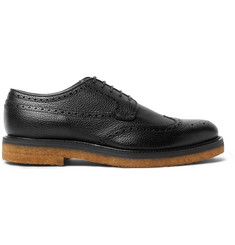 Dries Van Noten Pebble-Grain Leather Wingtip Brogues