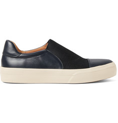 Dries Van Noten Panelled Leather Slip-On Sneakers