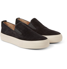 Dries Van Noten - Leather-Trimmed Suede Slip-On Sneakers