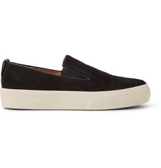 Dries Van Noten Leather-Trimmed Suede Slip-On Sneakers