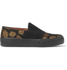 Dries Van Noten Faille and Jacquard Slip-On Sneakers