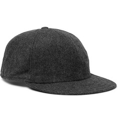 Borsalino Herringbone Virgin Wool-Blend Baseball Cap