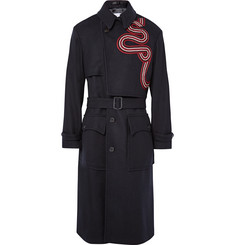 Dries Van Noten - Radley Grosgrain-Trimmed Wool-Blend Trench Coat