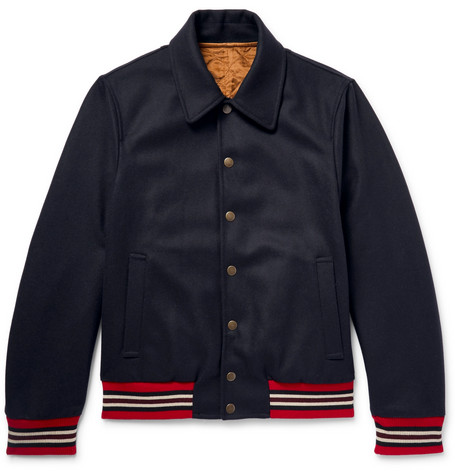 Reversible Wool Blend Bomber Jacket by Dries Van Noten