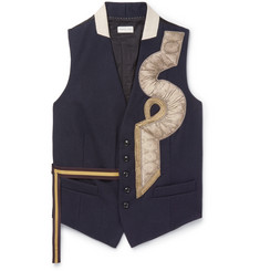 Dries Van Noten Appliquéd Wool Waistcoat