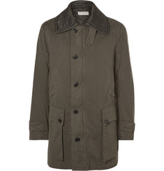 Dries Van Noten Quilted-Collar Cotton-Twill Coat
