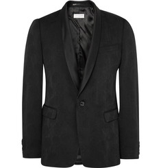 Dries Van Noten - Black Slim-Fit Wool-Blend Jacquard Tuxedo Jacket