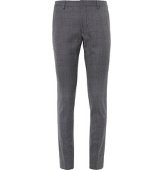 Dries Van Noten Slim-Fit Prince of Wales Checked Wool Trousers