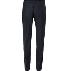 Dries Van Noten Blue Slim-Fit Pinstriped Wool Suit Trousers