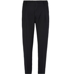 Dries Van Noten - Tapered Pleated Wool-Gabardine Trousers