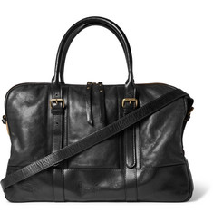 Dries Van Noten Canvas-Trimmed Leather Holdall
