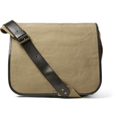 Dries Van Noten - Leather-Trimmed Canvas Messenger Bag