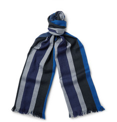 Dries Van Noten - Striped Wool Scarf