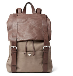 Brunello Cucinelli - Full-Grain Nubuck and Leather Backpack
