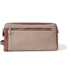 Brunello Cucinelli - Full-Grain Nubuck and Leather Wash Bag