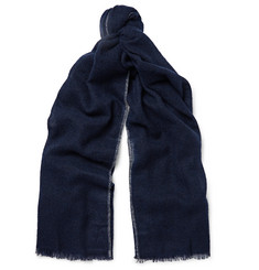 Brunello Cucinelli - Contrast-Tipped Cashmere and Silk-Blend Scarf
