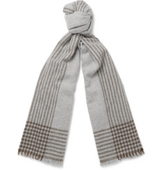 Brunello Cucinelli - Striped Cashmere-Blend Scarf